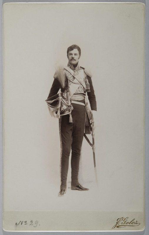 Jadwiga Golcz, Adam Krasiński in Wincenty Krasiński's Uniform, ca. 1905, National Museum in Warsaw