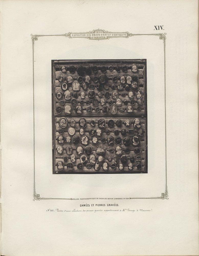 Plate XIV, in: Karol Beyer, Album de l'exposition des objets d'art et d'antiquité, Warsaw 1856