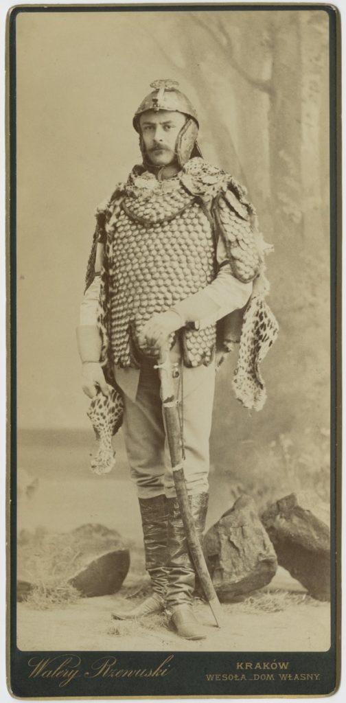 Walery Rzewuski, Stefan Zamoyski jako Jeremi Wiśniowiecki w zbroi z Muzeum Czartoryskich, 1884