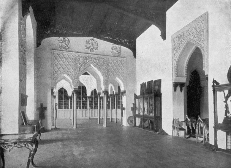 Sala Mauretańska w Kórniku, 1910, w: Kazimierz Ruciński, Dwory i pałace wielkopolskie, Poznań 1913