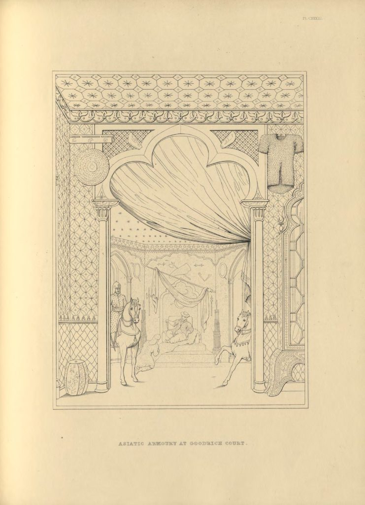 Zbrojownia Azjatycka, Goodrich Court, w: Engraved illustrations of ancient arms and armour: from the collection at Goodrich Court, Herefordshire, after the drawings, and with the descriptions of Samuel Rush Meyrick, Londyn 1854