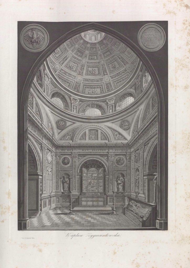 Kaplica Zygmuntowska, w: Fryderyk Dietrich, Michał Stachowicz, Monumenta Regum Poloniae Cracoviensia, Warszawa 1822–1827