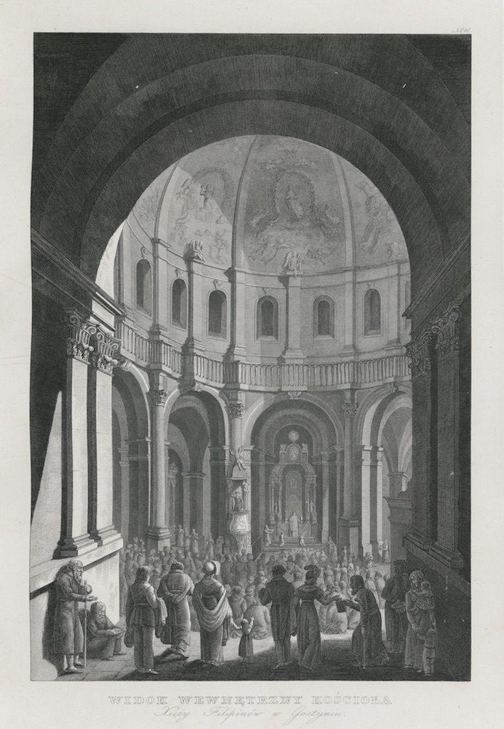 Widok wewnętrzny kościoła, w: Edward Raczyński, Wspomnienia Wielkopolski, Poznań 1842–1843