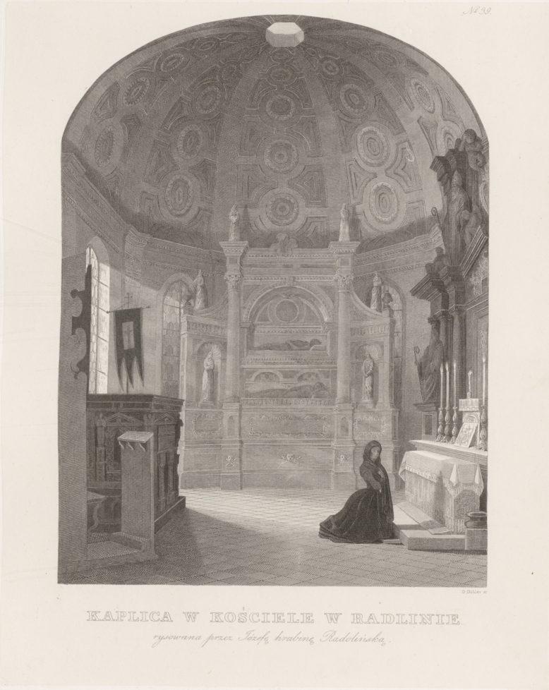 Kaplica w kościele w Radlinie, w: Edward Raczyński, Wspomnienia Wielkopolski, Poznań 1842–1843