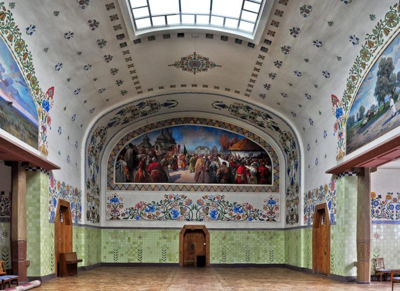 Wnętrze Muzeum Krajobrazowego w Połtawie, fotografia