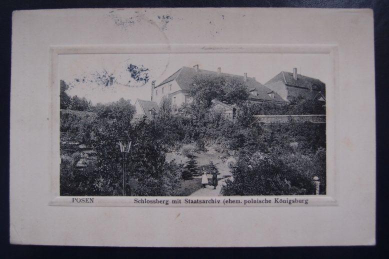 Staatsarchiv w Poznaniu, siedziba Historische Gesellschaft zu Provinz Posen, pocztówka, pocz. XX wieku