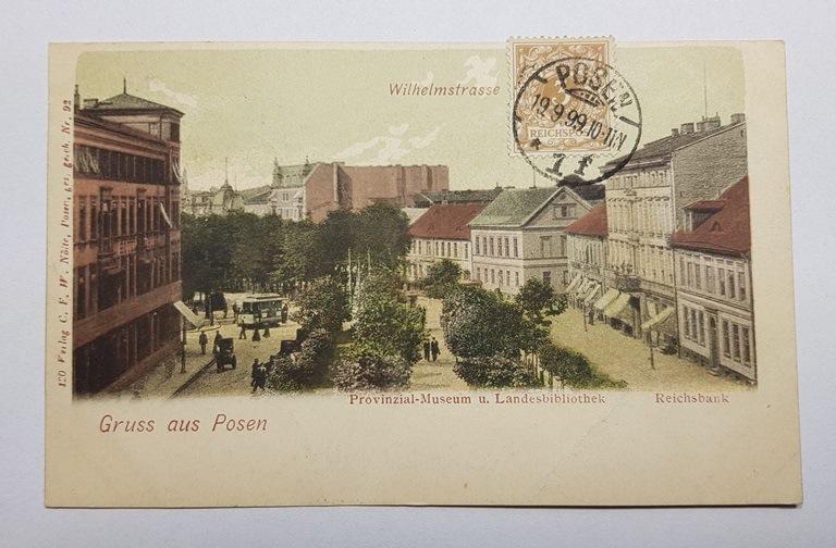 Pierwsza siedziba Muzeum Prowincji, pocztówka, pocz. XX