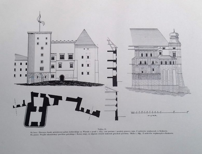 Zamek królewski na Wawelu. Dokumentacja publikowana w Tece Grona Konserwatorów Galicyi Zachodniej, tom Wawel.