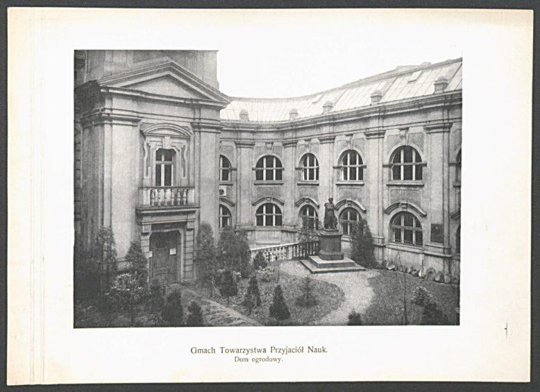 Nowe skrzydło wschodnie (muzealne) gmachu PTPN, 1908, Baza ikonografii PTPN