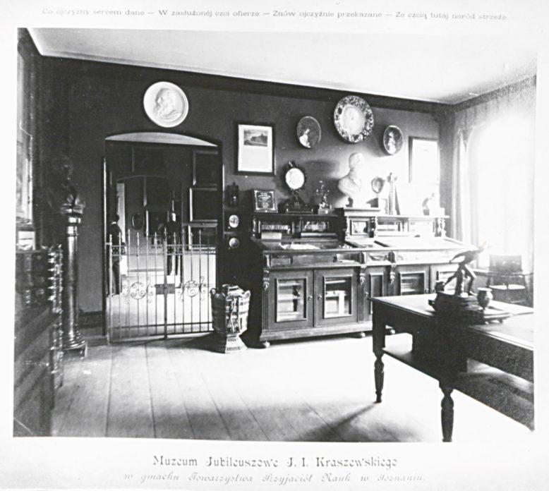 Gabinet Kraszewskiego w Muzeum im. Mielżyńskich, pocz. XX wieku, Baza Ikonografii PTPN