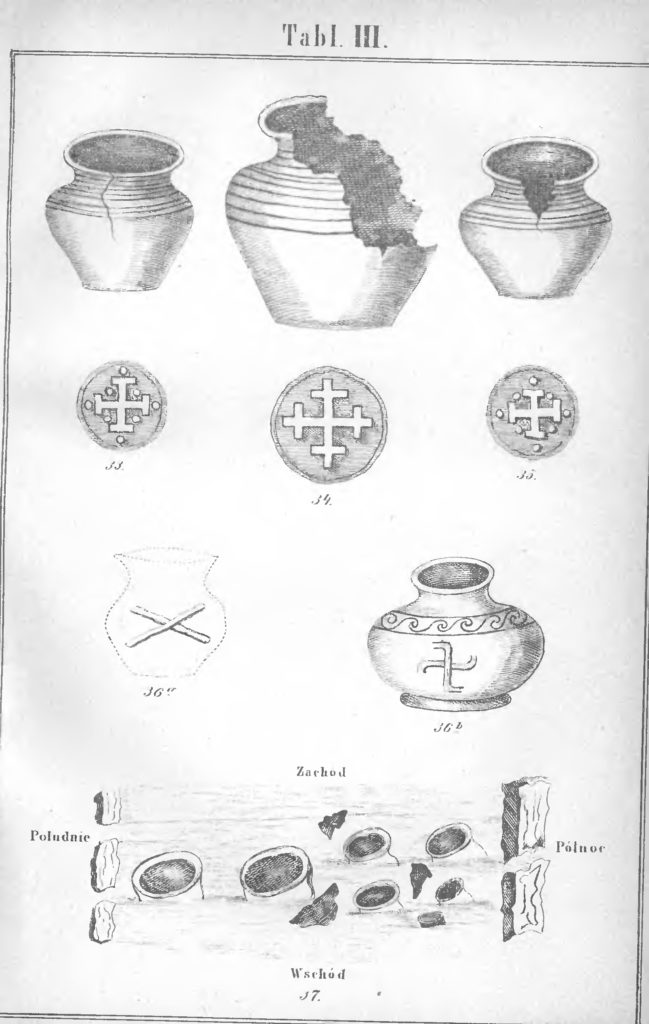 Urny z krzyżami, Roczniki PTPN, t. 10 (1878).