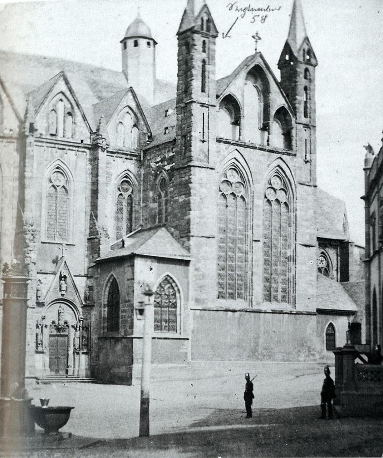 Albrecht Meydenbauer, Południowa fasada katedry w Wetzlar, ok. 1900, źródło: Wikipedia