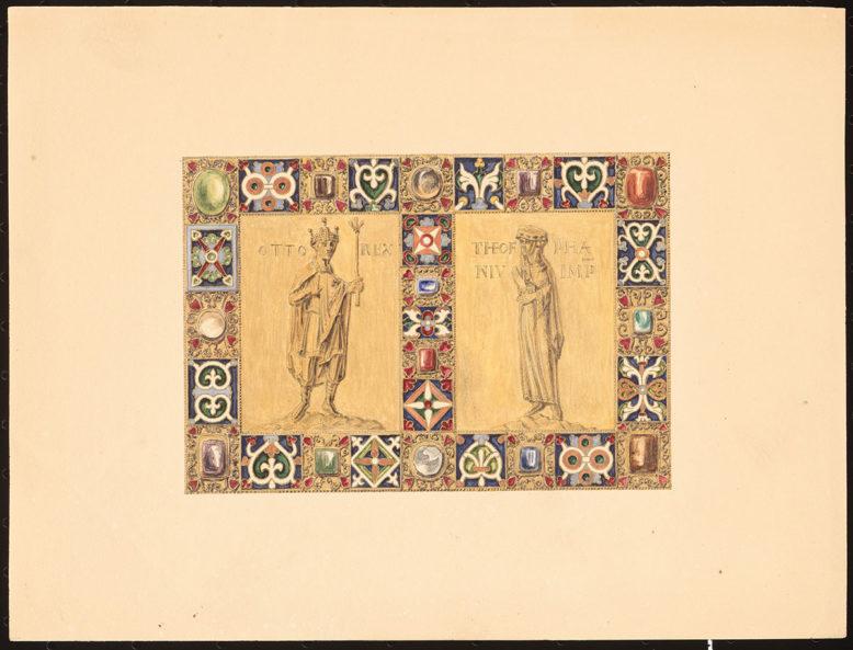 rysunki F. von Quasta ze zbiorów Architekturmuseum przy Technische Universität w Berlinie