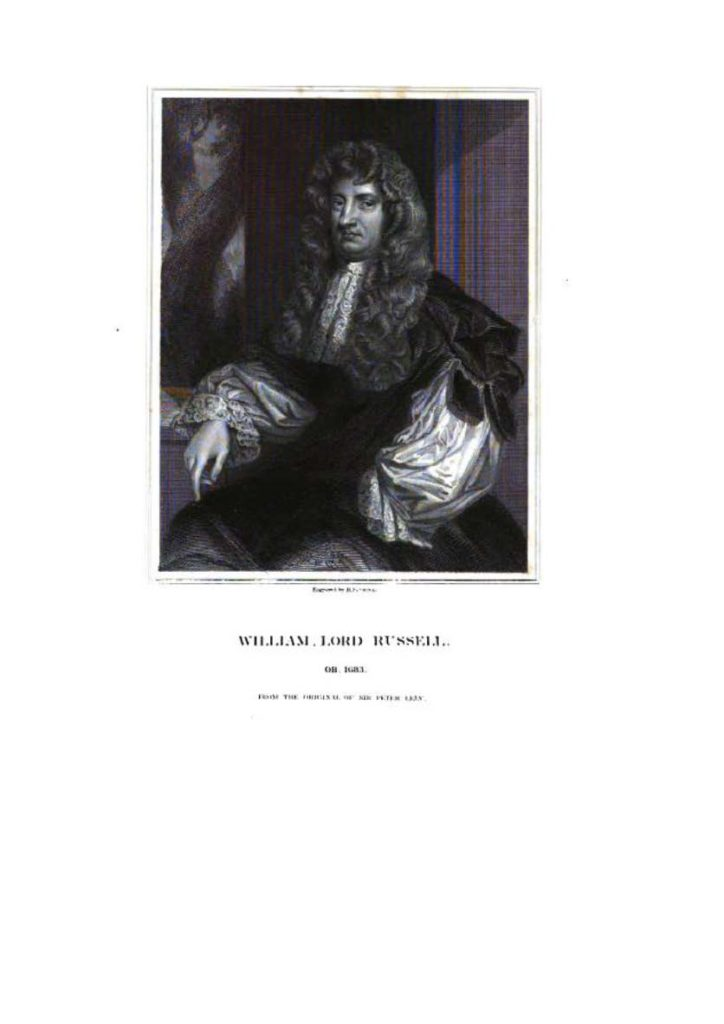 William Lord Russell z cyklu Portraits of Illustrious Personages of Great Britain, t. IX, London 1835