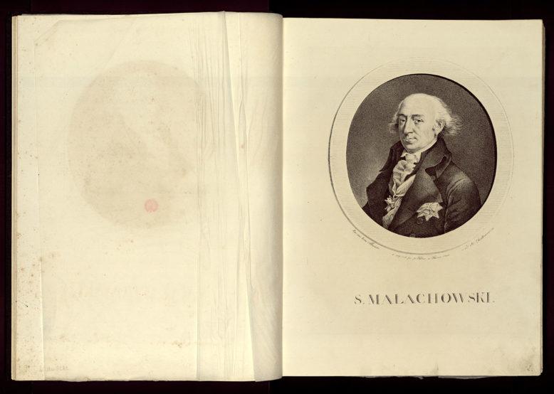 Stanisław Małachowski z cyklu Aleksander Chodkiewicz, Portrety wsławionych Polaków rysowane na kamieniu przez Walentego Śliwickiego… Warszawa 1820-1830