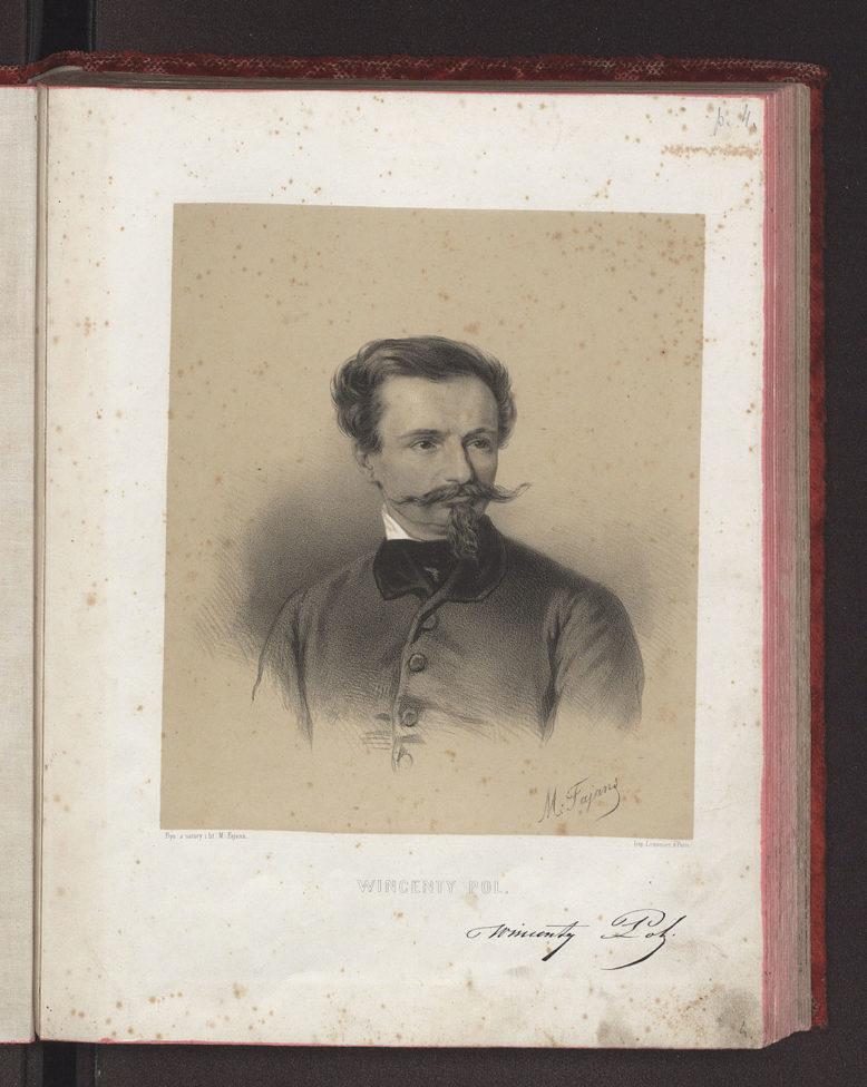 Wincenty Pol z cyklu Maksymilian Fajans, Wizerunki Polskie. Rysował z natury i litografował…, Warszawa 1851-1862