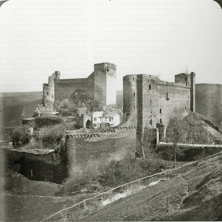 Albrecht Meydenbauer, Ruiny zamku Hohenstein w Taunus, ok. 1900, źródło: Historische Bilddokumente (https://www.lagis-hessen.de/de/subjects/idrec/sn/bd/id/81-01)