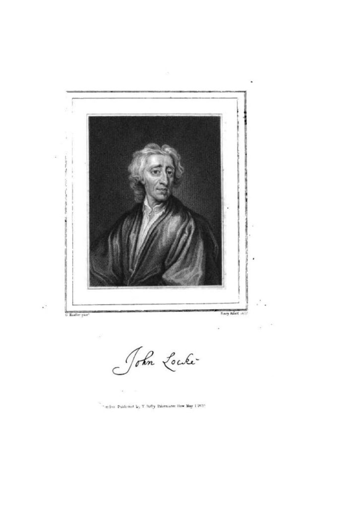 John Locke z cyklu The Historical Gallery of celebrated men of every age and nation Robert Huish, London 1830