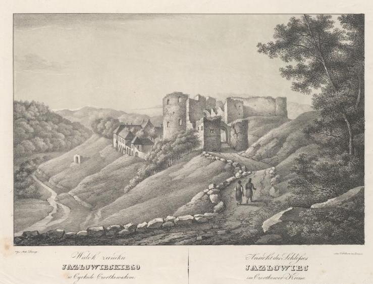 Jazłowiec, P. Piller, Galicyja w obrazach, czyli Galeryja litografowanych widoków, okolic i najznamienitszych zabytków w Galicyji (Lwów 1837-1838)