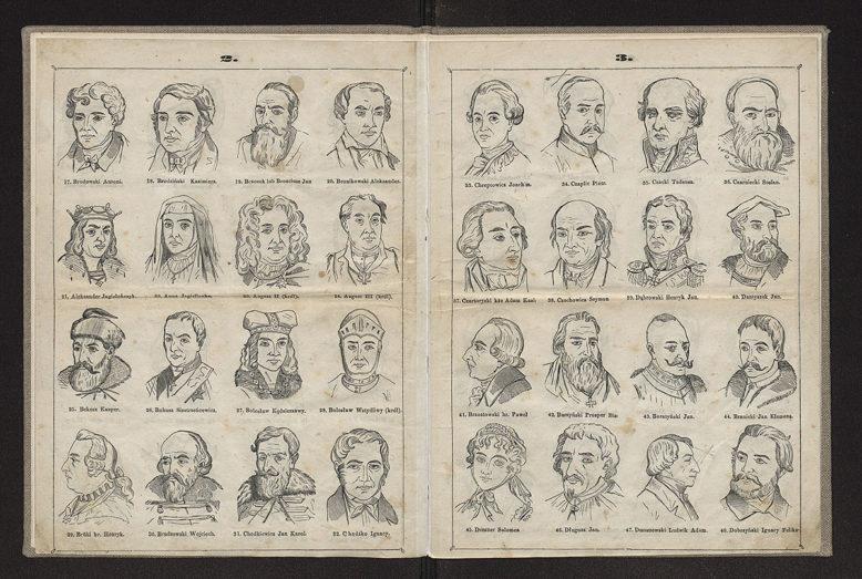 tablica z: Atlas 300 portretów zasłużonych w Narodzie Polaków i Polek Wojciecha Szymanowskiego, Warszawa 1860