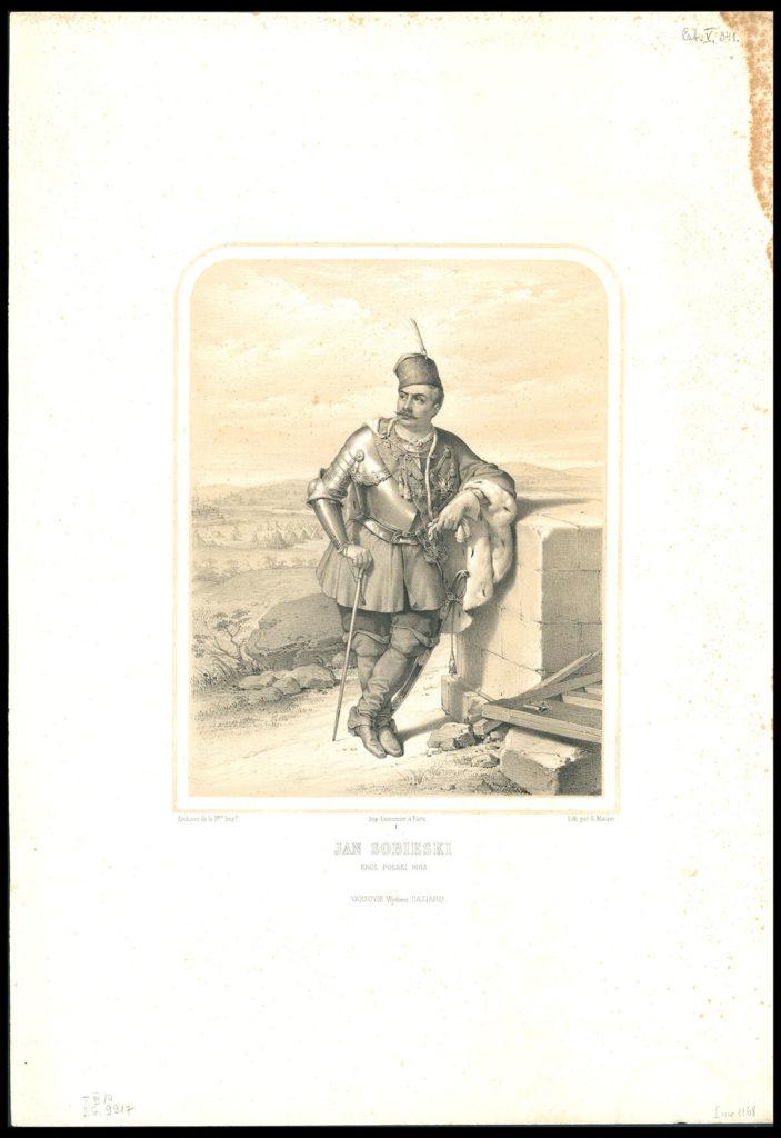 Jan Sobieski z cyklu Wizerunki królów i wybitnych Polaków, A. Ziemięcki, Lemercier, F. Dazziaro, Warszawa 1860