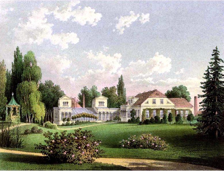 Pałac w Waplewie Wielkim, lit. A. Duncker, 1864–1865