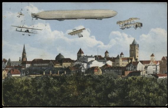 Pocztówka ze zbiorów Biblioteki Uniwersyteckiej w Poznaniu, Dzielnica Cesarska, ok. 1914