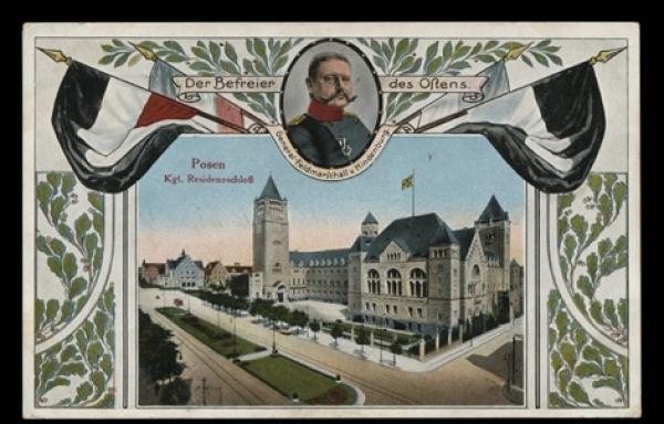 Pocztówka ze zbiorów Biblioteki Uniwersyteckiej w Poznaniu, Zamek Wilhelma II, ok. 1915