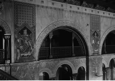 Wnętrza Zamku Cesarskiego, Fragment Sali Tronowej, 1933, źródło: NAC