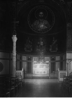 Wnętrza Zamku Cesarskiego, Kaplica Zamkowa, 1925, źródło: NAC