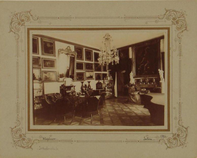 Sala Biała, Pałac w Waplewie Wielkim, 1896, fot. Archiwum Państwowe w Krakowie (z Archiwum Potockich z Krzeszowic)
