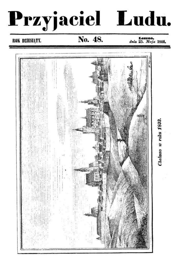 """Chełmno w roku 1833, """"Przyjaciel Ludu"""", 1844 (48)"""