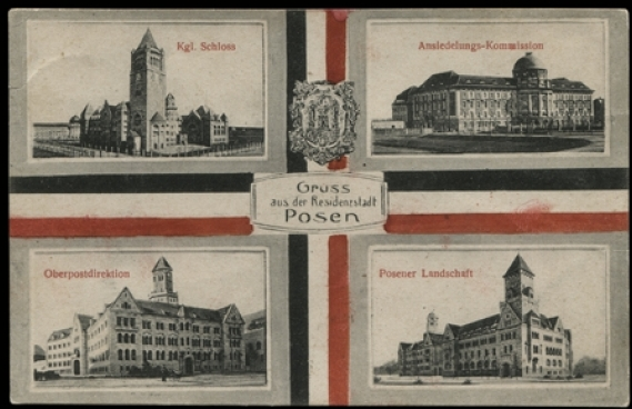 Pocztówka ze zbiorów Biblioteki Uniwersyteckiej w Poznaniu, ok. 1909