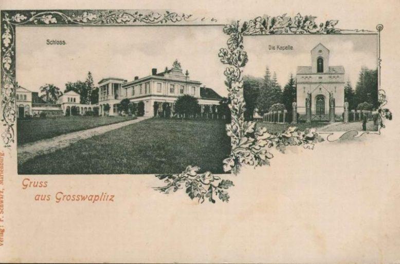 Sala Gdańska w pałacu w Waplewie Wielkim, 1896, Archiwum Narodowe w Krakowie (z Archiwum Potockich z Krzeszowic)