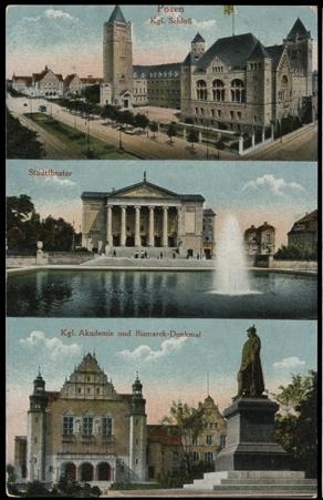 Pocztówka ze zbiorów Biblioteki Uniwersyteckiej w Poznaniu, ok. 1915