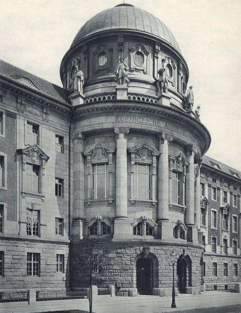 Pocztówka ze zbiorów Biblioteki Uniwersyteckiej w Poznaniu, Komisja Osadnicza w Poznaniu