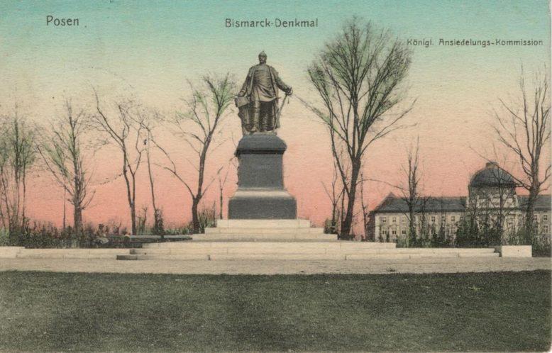 Pocztówka ze zbiorów Biblioteki Uniwersyteckiej w Poznaniu, Pomnik Bismarcka