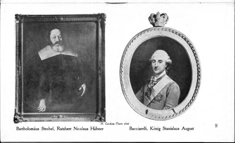 Portrety z kolekcji muzeum, ilustracja z: A. Semrau, Führer durch das Städtische Museum, Thorn 1917