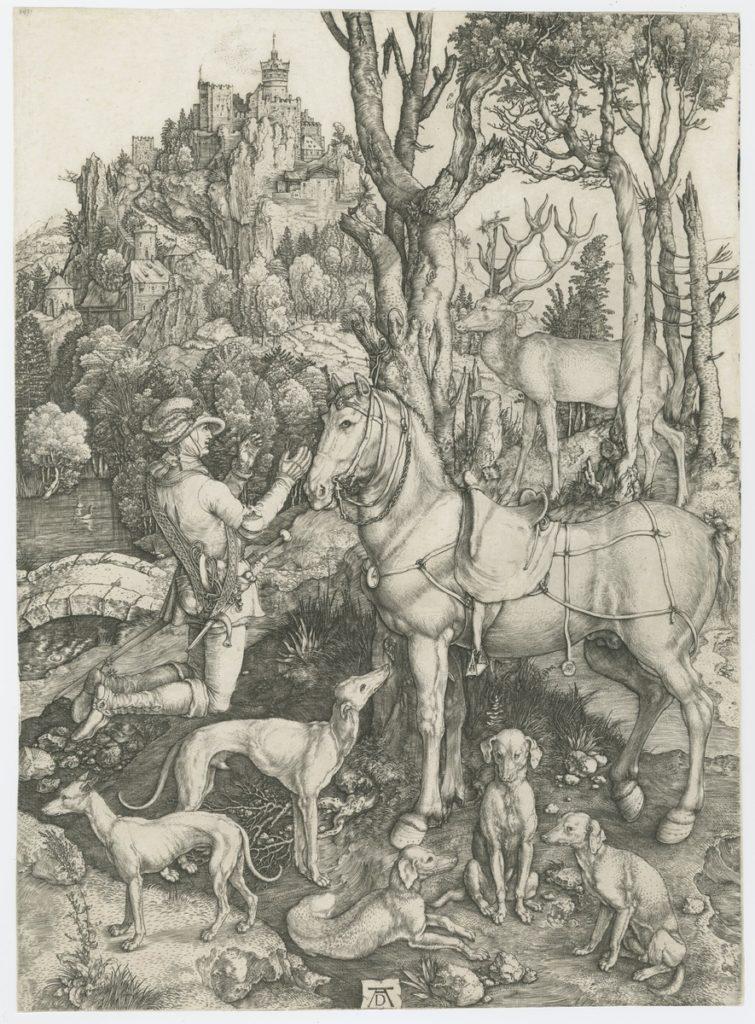 Albrecht Durer, Św. Eustachy, ok. 1501, grafika, Biblioteka Polska w Paryżu, ob. Polska Akademia Umiejętności, źródło: http://www.paurat.pl