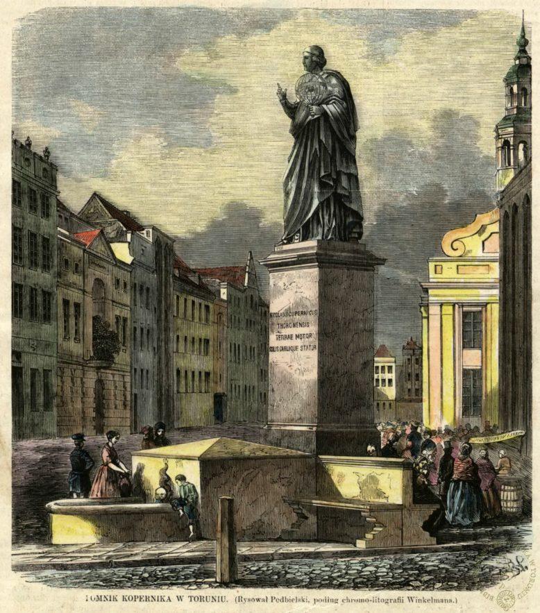 """Podbielski, Pomnik Kopernika w Toruniu, drzeworyt, """"Tygodnik Ilustrowany"""", 1861, nr 98"""