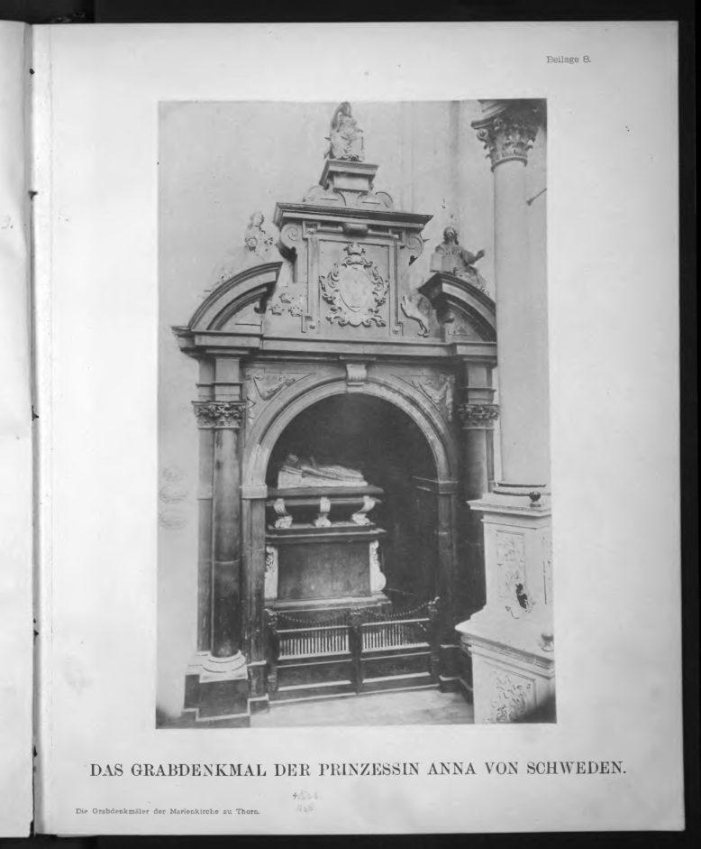 """A. Semrau, Die Grabdenkmaler der Marienkirche zu Thorn, """"Mitteilungen des Coppernicus-Vereins für Wissenschaft und Kunst zu Thorn"""", 7 (1892)"""