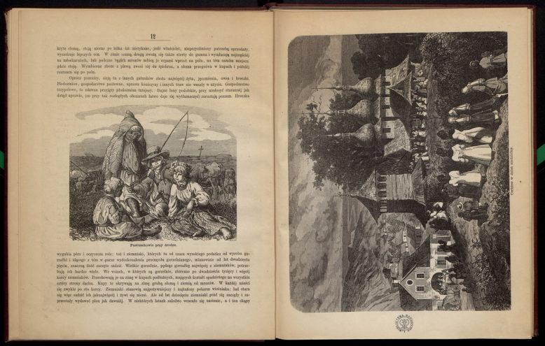 Władysław Zawadzki, Obrazy Rusi Czerwonej z rysunkami Juliusza Kossaka, nakładem Jana Konstantego Żupańskiego 1869, ksylografował Jan Styfi. Domena publiczna