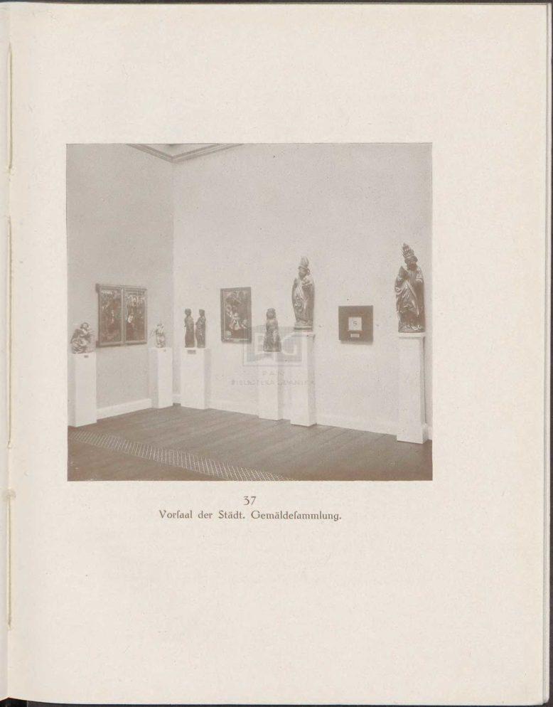Sala gotycka i renesansowa w Muzeum Miejskim w Gdańsku z: H. F. Secker, Die Kunstsammlungen im Franziskanerkloster zu Danzig. Wegweiser, Danzig 1917
