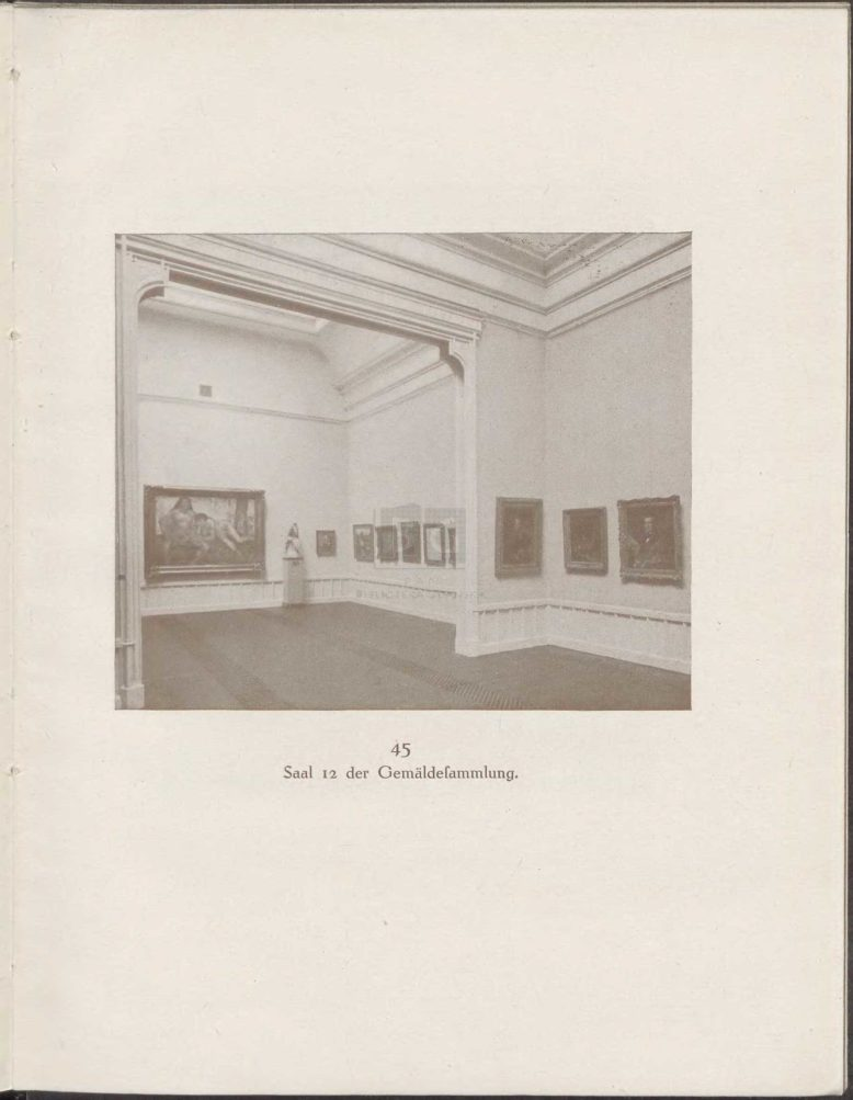 sala niemieckiego malarstwa współczesnego, z: H. F. Secker, Die Kunstsammlungen im Franziskanerkloster zu Danzig. Wegweiser, Danzig 1917