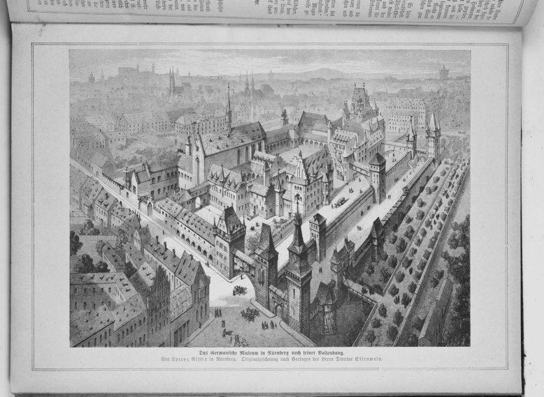 """A. von Essenwein, """"Germanisches Nationalmuseum zu Nürnberg"""", 1877, za: Wikipedia"""