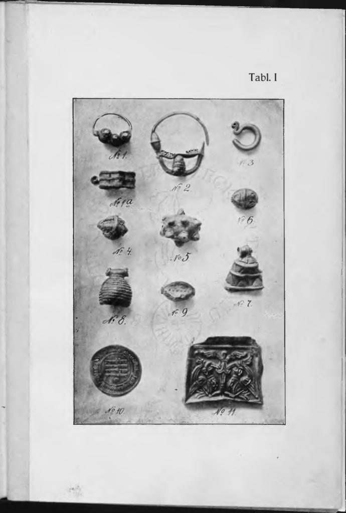 Tablica z: Rocznik Towarzystwa Naukowego w Toruniu, 1907, r. XIV