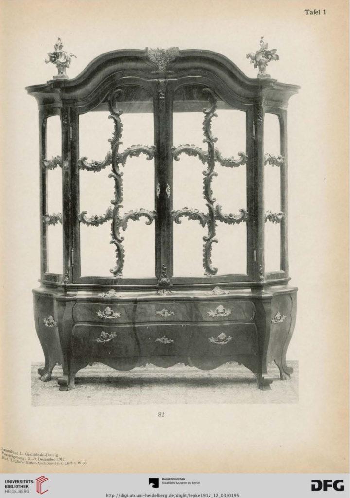 """Kolekcja Lessera Giełdzińskiego z katalogu: """"Sammlung Gieldzinski Danzig"""", (katalog aukcji w domu aukcyjnym Rudolfa Lepke w Berlinie), Berlin 1912"""