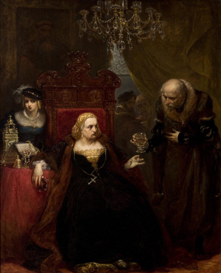 Jan Matejko, Otrucie królowej Bony, 1859, Zbiory Muzeum Narodowego w Krakowskie, Domena publiczna